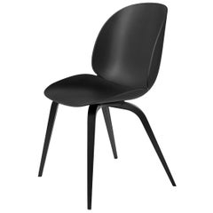 Beetle Dining Chair, Un-Upholstered, Black Stained Beech