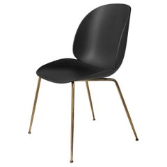 Beetle Dining Chair, Un-Upholstered, Conic Base, Antique Brass