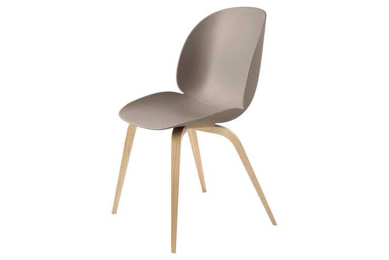 Mid-Century Modern Beetle Dining Chair, Un-Upholstered, Natural Oak For Sale