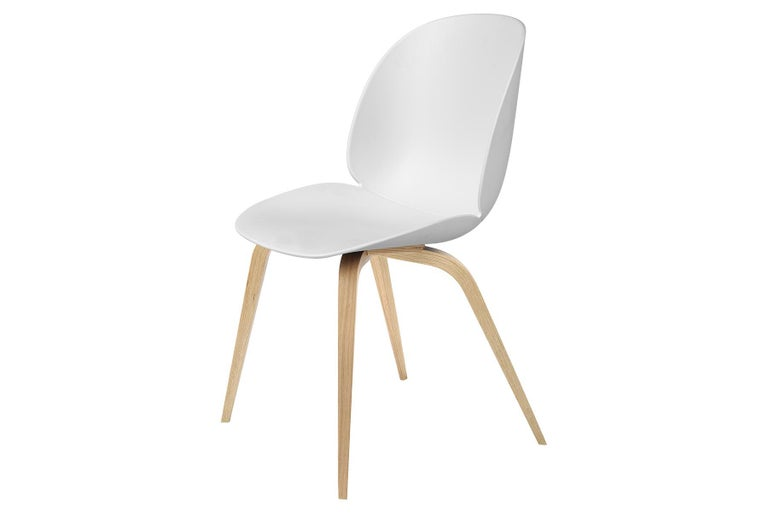 Danish Beetle Dining Chair, Un-Upholstered, Natural Oak For Sale