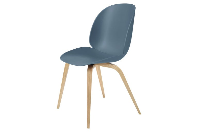 Contemporary Beetle Dining Chair, Un-Upholstered, Natural Oak For Sale