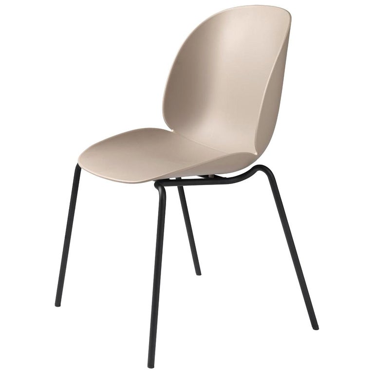 Beetle Dining Chair, Un-Upholstered, Stackable Base, Matte Black For Sale