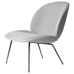 Beetle Lounge Chair, Fully Upholstered, Conic Base, Chrome
