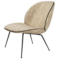Beetle Lounge Chair, Fully Upholstered, Conic Base, Matte Black