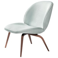 Beetle Lounge Chair, Fully Upholstered, Wood Base, American Walnut