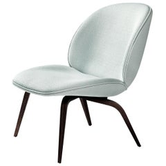Beetle Lounge Chair, Fully Upholstered, Wood Base, Black Stained Beech