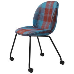 Beetle Meeting Chair, Fully Upholstered, 4 Legs with Castors