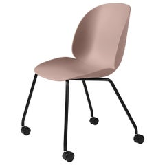 Beetle Meeting Chair, Un-Upholstered, 4 Legs with Castors