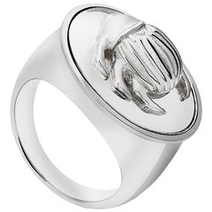 Silver Beetle Ring, sizes 60, 65
