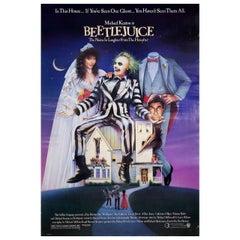 """Beetlejuice"" 1988 U.S. One Sheet Film Poster"
