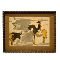 Before The Thrust, Silkscrren Litho, After Picasso