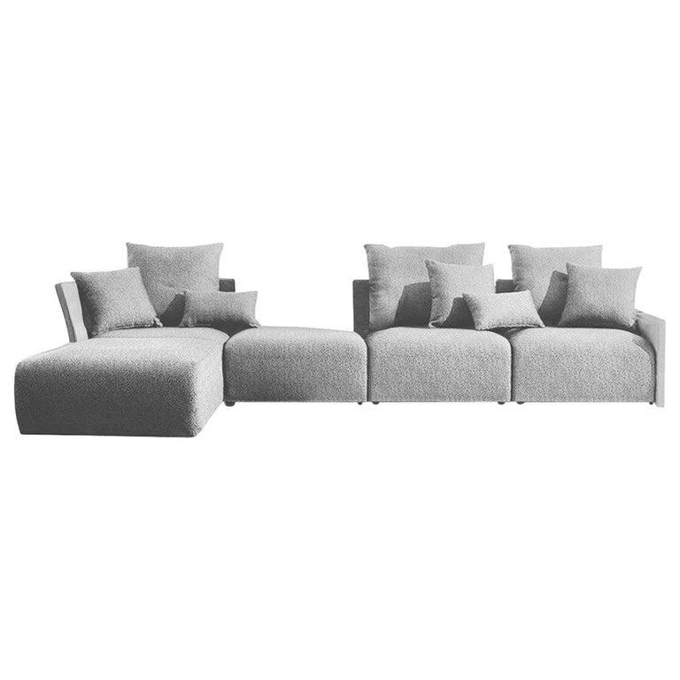 Begin Grey Outdoor Sofa, Designed by Angeletti Ruzza For Sale