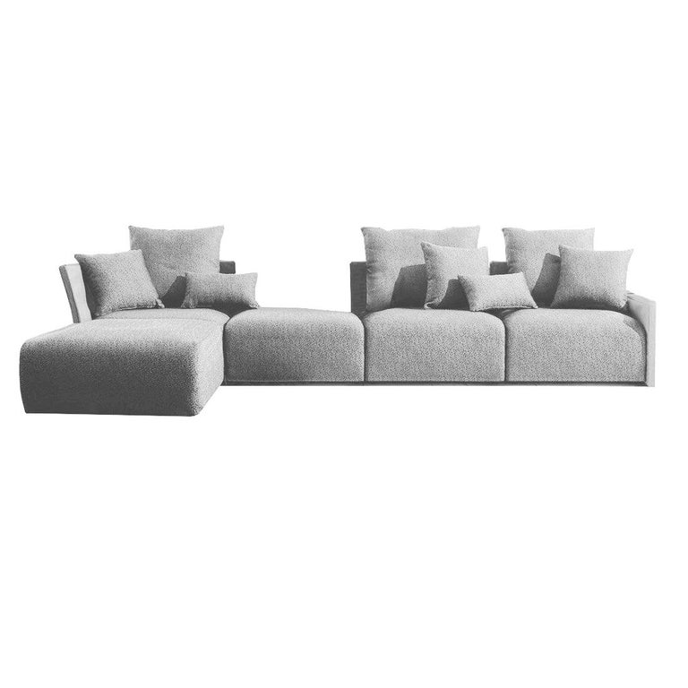 Begin Grey Outdoor Sofa by Angeletti Ruzza Made in Italy In stock in Los Angeles For Sale