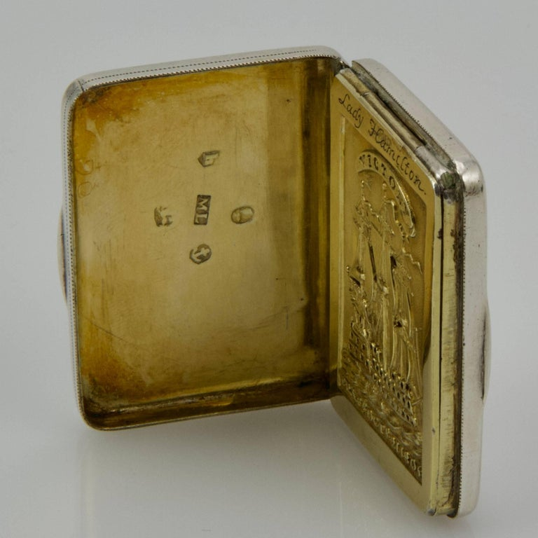 Early 19th Century Beginning of 19th Century Admiral Nelson Vinaigrette For Sale