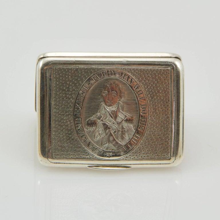 Beginning of 19th Century Admiral Nelson Vinaigrette For Sale 1