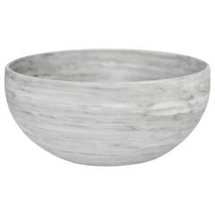 Bego White Marble Carved Large Bowl