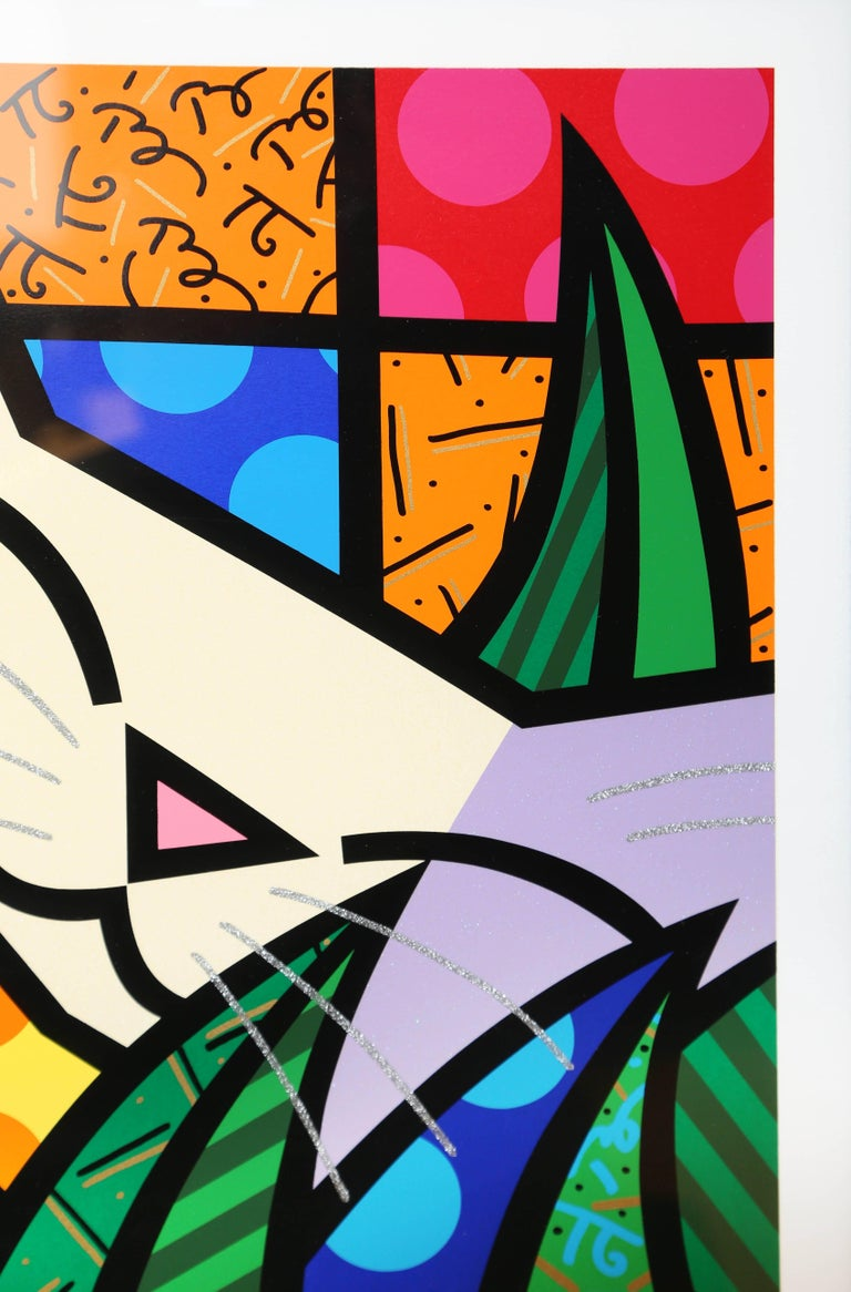 American Behind the Bushes, Limited Edition Serigraph by Romero Britto For Sale
