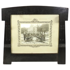 Behrens School German Secessionist Picture Frame in Ebonized Oak