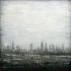 Abstract Cityscape V, Painting, Acrylic on Canvas