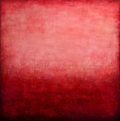 Abstract Red Ocean II, Painting, Acrylic on Canvas