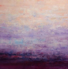 Abstract Sunset Landscape II, Painting, Acrylic on Canvas