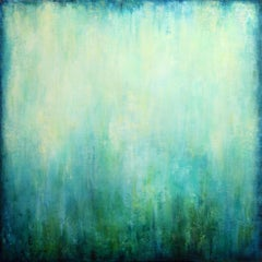 Abstract Turquoise II, Painting, Acrylic on Canvas