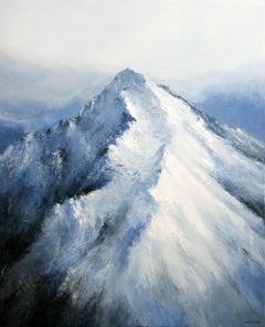 Alpine Landscape II, Painting, Acrylic on Canvas