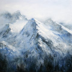 Alpine Landscape IV, Painting, Acrylic on Canvas