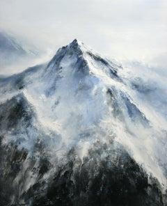 Alpine Mountain, Painting, Acrylic on Canvas