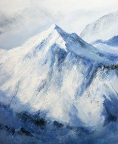 Alpine Winter, Painting, Acrylic on Canvas