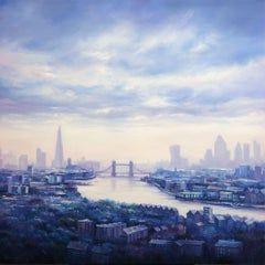 London City, Painting, Oil on Canvas