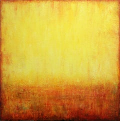 Yellow Abstract Painting IV, Painting, Acrylic on Canvas