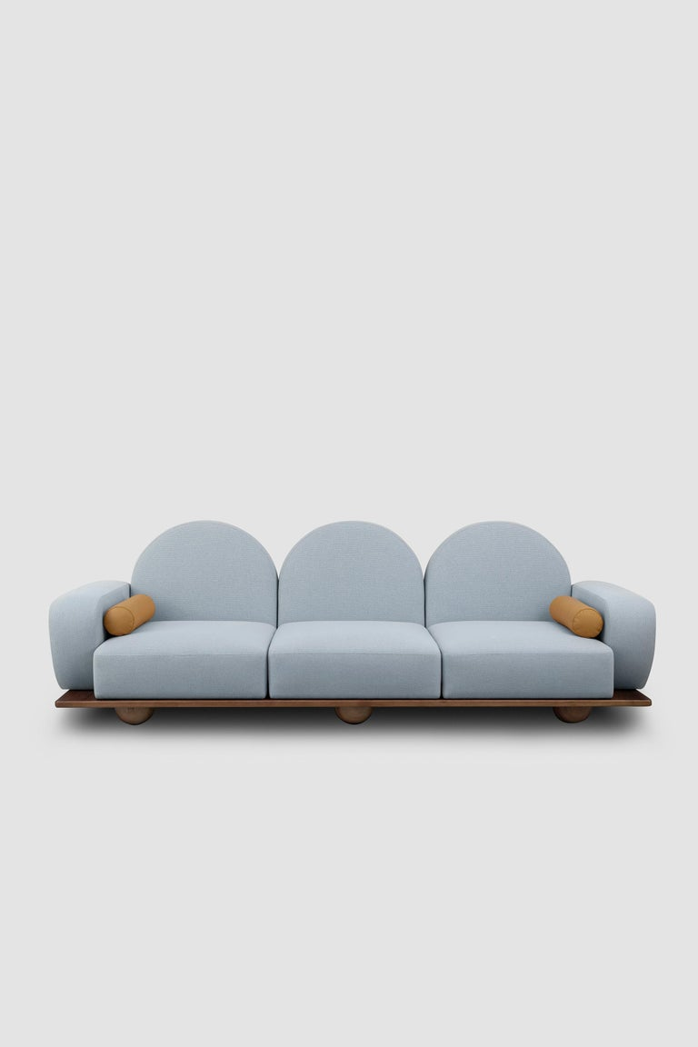 Arts and Crafts Beice 3-Seat Sofa For Sale
