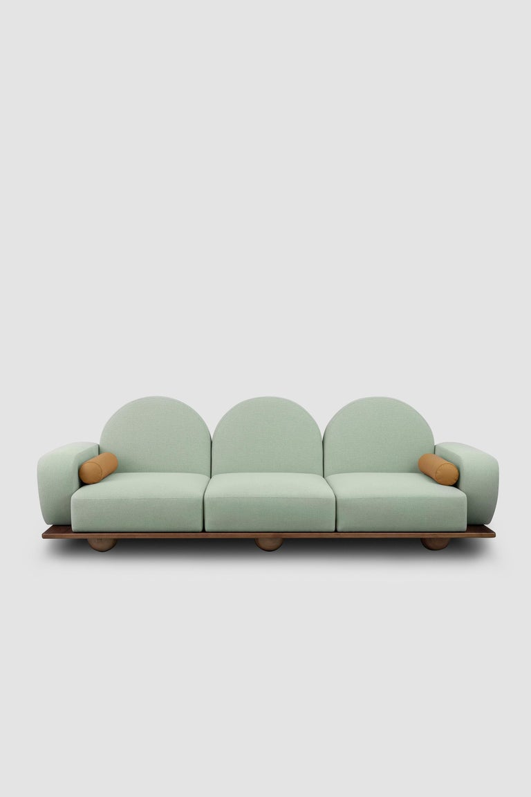 Turkish Beice 3-Seat Sofa For Sale