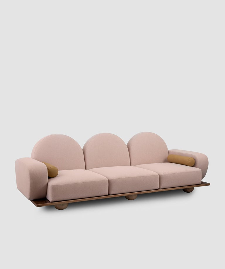 Hand-Crafted Beice 3-Seat Sofa For Sale