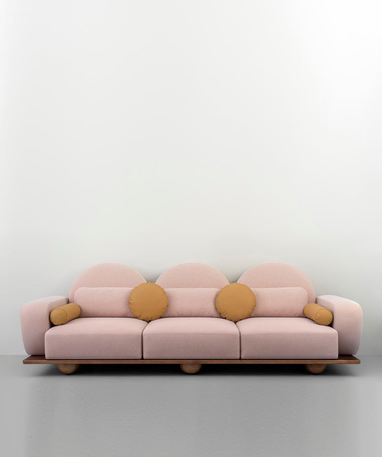 Contemporary Beice 3-Seat Sofa For Sale