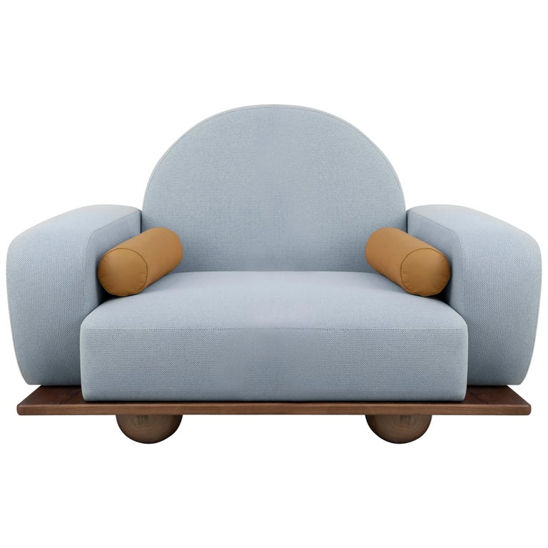 Beice Armchair Pastel Blue For Sale
