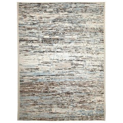 Nazmiyal Collection Beige Modern Moroccan Style Rug. 10 ft 5 in x 13 ft 7 in