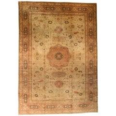 Beige Antique Turkish Sivas Carpet