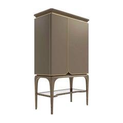 Beige Bar Cabinet