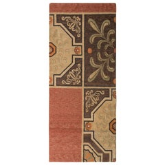 Rug & Kilim's Beige Brown 18th Century European Style Contemporary Flat-Weave