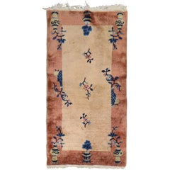 Beige Brown Art Deco Rug