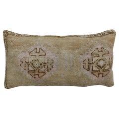 Beige Brown Pink Large Bolster Rug Pillow