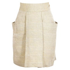 Beige Chloe Tweed Skirt