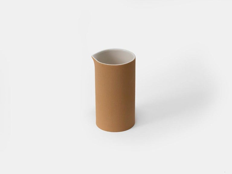 Designed and handmade in Ciudad de México. Engobe Series examines the latent dialogues between materiality and place as source of identity. The technical properties of the texture of these beautiful pieces are achieved after a careful selection of