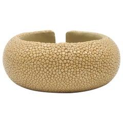 Beige Galuchat Cuff Bracelet