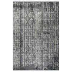 Beige, Grey, Medium Gray, and Charcoal Abstract Pattern Rug with Shine