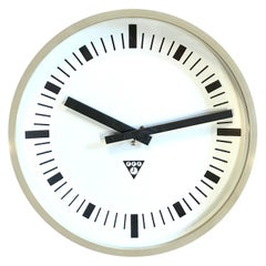 Beige Industrial Bakelite Wall Clock From Pragotron, 1970s