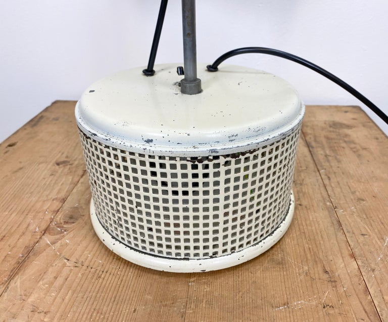 20th Century Beige Industrial Table Lamp, 1950s For Sale