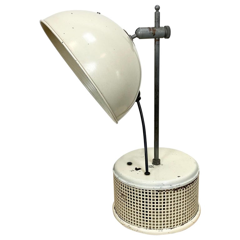 Beige Industrial Table Lamp, 1950s For Sale